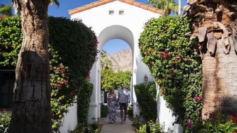 Couple à La Quinta Resort & Club à Palm Springs, Californie