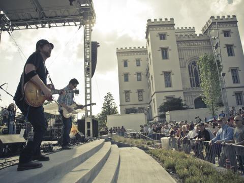 Concert lors du festival de blues de Bâton-Rouge
