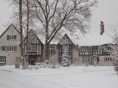 Kellogg Manor House pendant la saison des Fêtes