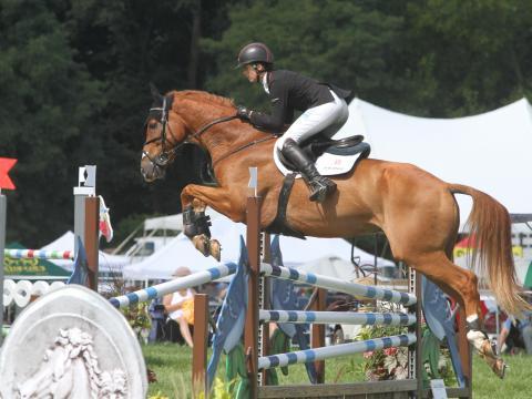 Épreuve de saut à obstacles lors du concours Richland Park Horse Trials