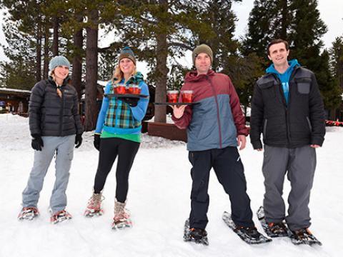 La dernière épreuve des Snowshoe Cocktail Races