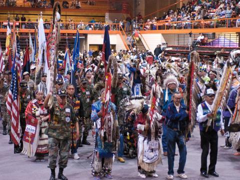 Procession lors du Black Hills Powwow