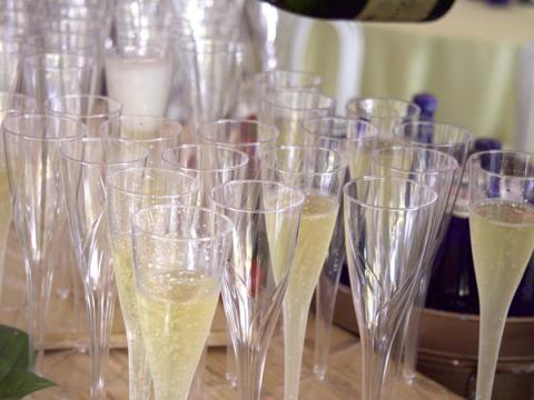 Glasses of bubbly at Saratoga Food & Wine Festival