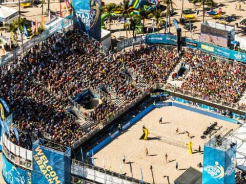 Tournoi de volleyball de plage SWATCH FIVB à Fort Lauderdale