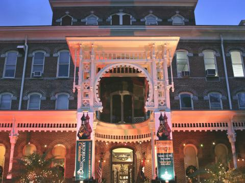 Victorian architecture on display during the Plant Museum's Victorian Christmas Stroll