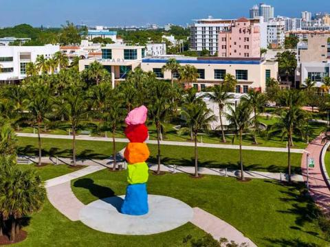 Art Basel Miami Beach, a Florida event featuring artwork from around the world