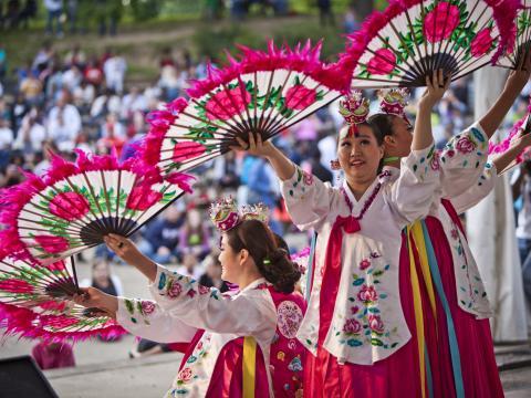Exposition culturelle lors du Columbus Asian Festival