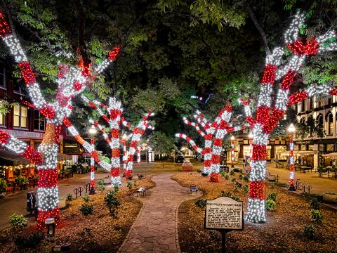 Illuminations de fin d'année à Knoxville, Tennessee